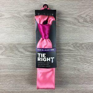 Van Heusen Satin Solid Pink Pre-Tied Tie